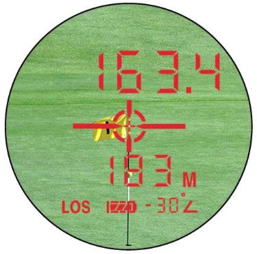 dublisGolf: LEUPOLD GX-4i² OLED Display im TGR Mode